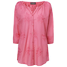 Buy Phase Eight Thandie Embroidered Blouse, Coral Online at johnlewis.com