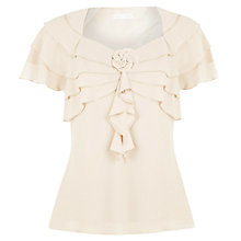 Buy Jacques Vert Chiffon Layered Top, Malt Online at johnlewis.com
