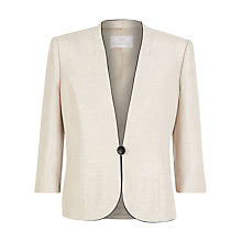 Buy Jacques Vert Contrast Piped Jacket, Malt Online at johnlewis.com