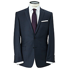 Buy Richard James Mayfair Slim Fit Windowpane Check Suit Jacket, Mid Blue Online at johnlewis.com