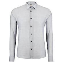 Buy Richard James Mayfair Melange Circle Print Shirt, Light Grey Online at johnlewis.com