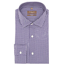 Buy Richard James Mayfair Gingham Check Shirt, Purple Online at johnlewis.com