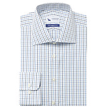 Buy Chester by Chester Barrie Graphic Check Shirt, White/Blue Online at johnlewis.com