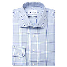 Buy Chester by Chester Barrie Large Check Shirt, Blue/Navy Online at johnlewis.com