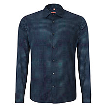 Buy Richard James Mayfair Mini Paisley Print Shirt, Navy/Light Blue Online at johnlewis.com