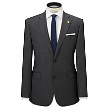 Buy Chester by Chester Barrie Prince of Wales Overcheck Jacket, Charcoal Online at johnlewis.com