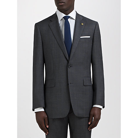 Buy Chester by Chester Barrie Prince of Wales Overcheck Tailored Suit Jacket, Charcoal Online at johnlewis.com