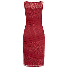 Buy Alexon Lace Chiffon Layer Dress, Ruby Red Online at johnlewis.com