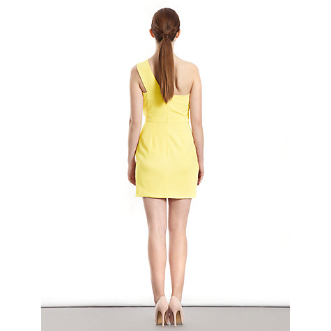 Buy Paisie One Shoulder Cocktail Dress, Yellow Online at johnlewis.com