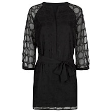 Buy Planet Embroidery Anglaise Tunic Dress, Black Online at johnlewis.com