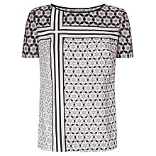 Buy Planet Multi Tile Printed Shell Top, Multi Light Online at johnlewis.com