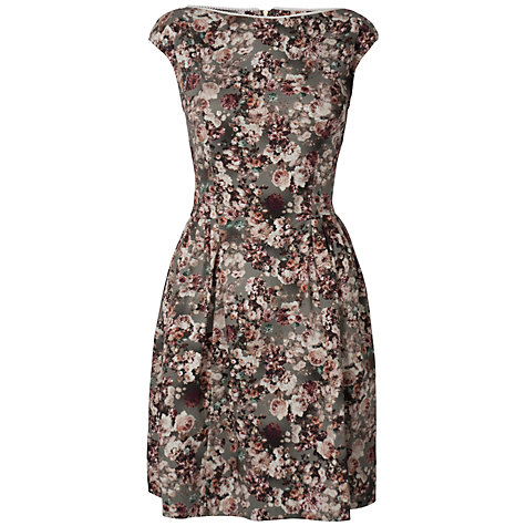 Buy Almari Floral Slash Neck Dress, Multi Online at johnlewis.com