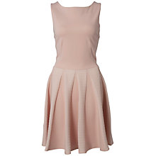 Buy Almari Waffle Godet Ponti Dress, Pale Pink Online at johnlewis.com