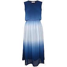 Buy Paisie Gradation Midi Dress with Open Back Detail, Blue/White Online at johnlewis.com