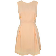 Buy Paisie Pleated Lace Panel Dress, Peach Online at johnlewis.com