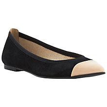 Buy Dune Monita Suede Pump Shoes, Black Online at johnlewis.com