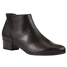 Buy Gabor Fresco Leather Ankle Boots, Black Online at johnlewis.com