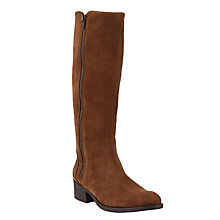 Buy John Lewis Taipei Suede Knee High Boots, Brown Online at johnlewis.com