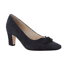 Buy John Lewis Made in England Brancaster Classic Heeled Court Shoes, Black Online at johnlewis.com