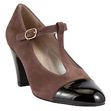 Buy John Lewis Carmen Mary Jane Court Shoes, Brown / Black Online at johnlewis.com