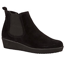 Buy Gabor Ghost Suede Ankle Boots, Black Online at johnlewis.com