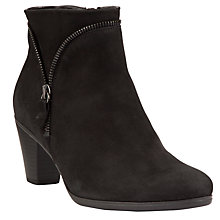 Buy Gabor Onida Nubuck Ankle Boots, Black Online at johnlewis.com