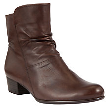 Buy Gabor Jensen Leather Ankle Boots, Brown Online at johnlewis.com