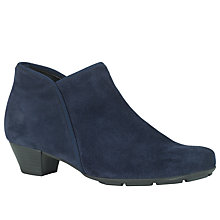 Buy Gabor Trudy Suede Ankle Boots, Navy Online at johnlewis.com