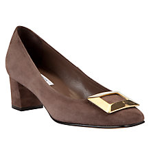 Buy COLLECTION by John Lewis Camera Square Toe Court Shoes, Taupe Online at johnlewis.com