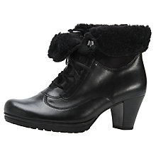 Buy Gabor Cosmic Leather Ankle Boots, Black Online at johnlewis.com