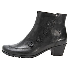 Buy Gabor Georgie Leather Ankle Boots, Black Online at johnlewis.com