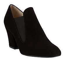 Buy John Lewis Giselle Suede Court Shoes, Black Online at johnlewis.com