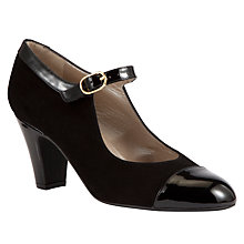 Buy John Lewis Prima Suede Court Shoes, Black Online at johnlewis.com
