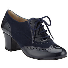 Buy John Lewis Reno Block Heel Lace-Up Brogues, Navy Online at johnlewis.com