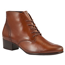 Buy Gabor Hornby Leather Ankle Boots, Brown Online at johnlewis.com