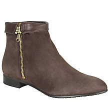 Buy John Lewis Nebraska Suede Ankle Boots, Grey Online at johnlewis.com