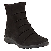 Buy Gabor Irma Nubuck Ankle Boots, Black Online at johnlewis.com