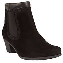Buy Gabor Sound Nubuck Ankle Boots, Black Online at johnlewis.com