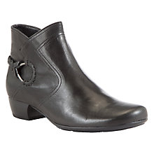Buy Gabor Grove Leather Ankle Boots, Black Online at johnlewis.com