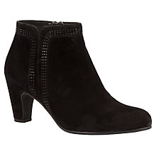 Buy Gabor Parade Suede Ankle Boots, Black Online at johnlewis.com