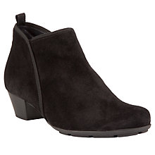 Buy Gabor Trudy Suede Ankle Boots, Black Online at johnlewis.com