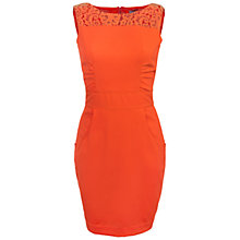 Buy Whistle & Wolf Fitted Big Pocket Dress, Orange Online at johnlewis.com