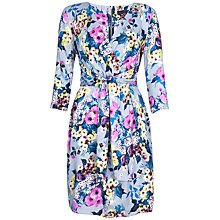 Buy Closet Floral Print Tie Front Dress, Multi Online at johnlewis.com