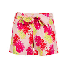 Buy Wolf & Whistle Tropical Floral Tailored Shorts, Pink Online at johnlewis.com