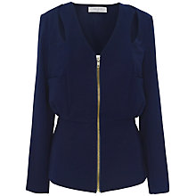Buy Paisie Cut Out Shoulder Jacket, Navy Online at johnlewis.com