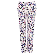 Buy Warehouse Pansy Print Trousers, Purple Pattern Online at johnlewis.com
