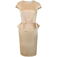 Buy Paisie Fitted Peplum Pencil Dress with Frills, Champagne Online at johnlewis.com