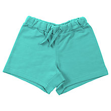 Buy Polarn O. Pyret Baby Jersey Shorts, Turquoise Online at johnlewis.com