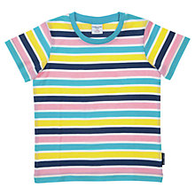Buy Polarn O. Pyret Stripe Cotton T-Shirt, Blue/Multi Online at johnlewis.com