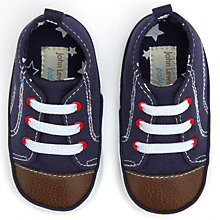 Buy John Lewis Baby Baseball Booties, Blue Online at johnlewis.com